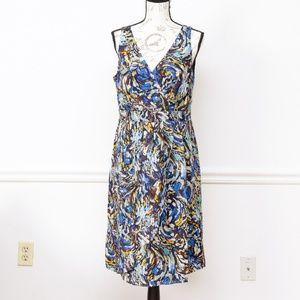 Anthropologie oak apple silk midi dress, size 10